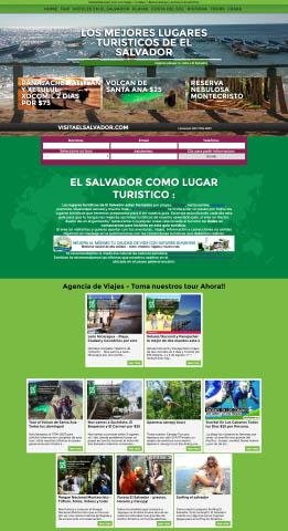 Diseño de paginas web El Salvador  Visita El Salvador – Web oficial