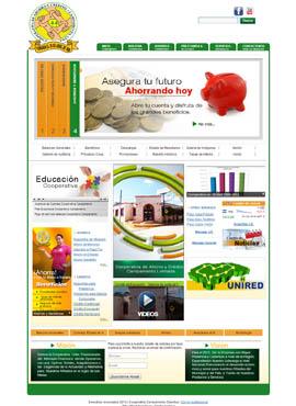 Diseño de paginas web El Salvador  Cooperativa Campamento