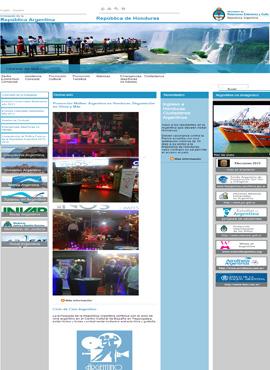 Diseño de paginas web El Salvador  Embajada de Argentina