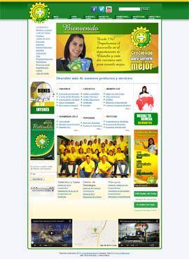 Diseño de paginas web El Salvador  Cooperativa Juticalpa Honduras