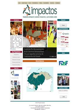 Diseño de paginas web El Salvador  Programa  Impactos