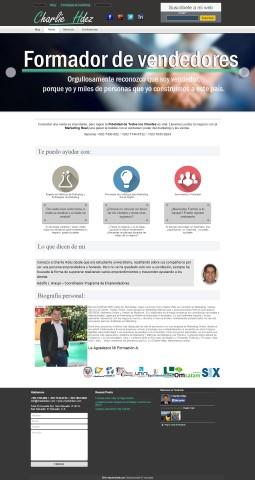 Diseño de paginas web El Salvador  charliehdez.com