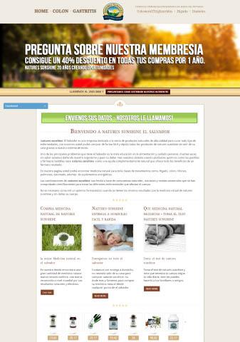 Diseño de paginas web El Salvador  Natures Sunshine El Salvador