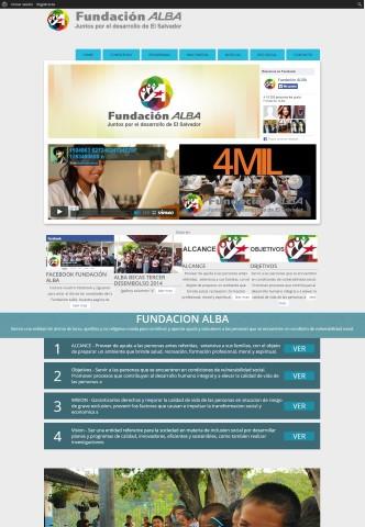 Diseño de paginas web El Salvador  Fundacion Alba El Salvador.