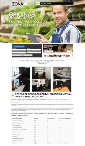 Diseño de paginas web El Salvador  Centro de negocios – Zona 49 El Salvador
