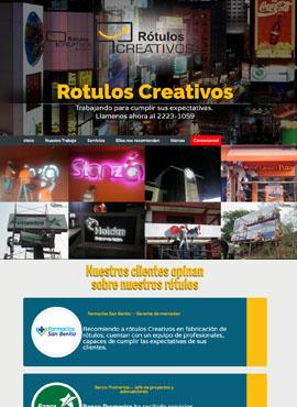Diseño de paginas web El Salvador  Rotulos Creativos El Salvador