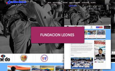 Pagina web para Fundacion Leones