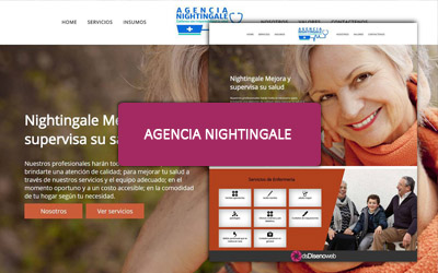 Diseño web para Agencia nightingale