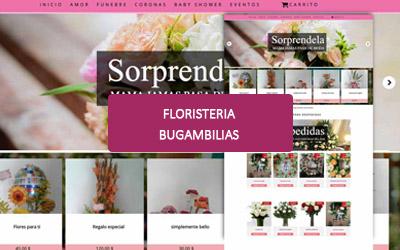 Diseño web para Floristeria Bugambilias